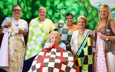 Hollister area residents donate quilts to Cox Medical Center Branson.
